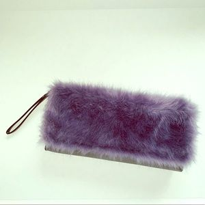 French Connection Faux Fur Clutch